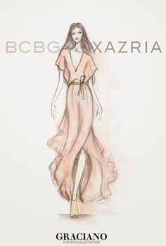 GRACIANO fashion illustration: BCBGMAXAZRIA SPRING 2015 #NYFW