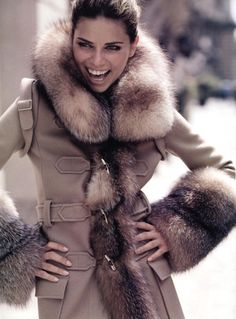Pretty coat - I'd only wear if the fur is fake though...