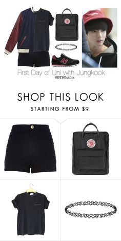 """First Day of Uni with Jungkook"" by btsoutfits ❤ liked on Polyvore featuring River Island, Fjällräven and Dorothy Perkins"