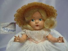 VOGUE Painted Eye Strung Doll 1950 SUPER CUTE