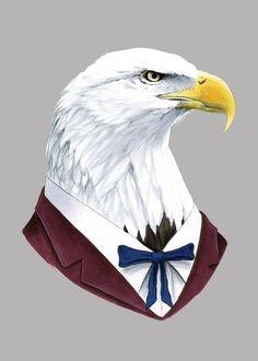 Bald Eagle print 5x7 by berkleyillustration on Etsy, $10.00