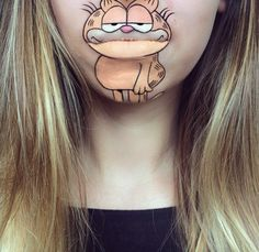 Your Favorite '90s Cartoons Have Come Alive...on This Makeup Artist's Mouth - Garfield