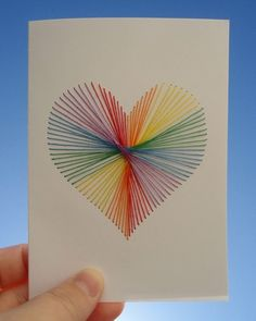 Crafts for teens / Heart Strings Card