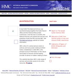 Historical Manuscripts Commission December 2003