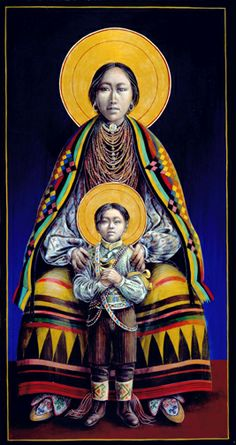 Seminole Madonna and Child by John Giuliani
