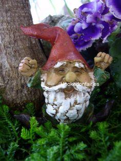 Miniature Garden Gnome Yawning 4462 Fairy Garden Dollhouse | eBay