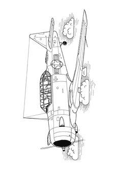 Coloriage Avion Bombardier.12 Meilleures Images Du Tableau Coloriages Avions Coloring Pages