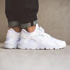 RESTOCK. Nike Air Huarache Triple White  http://ift.tt/1JgA1fu