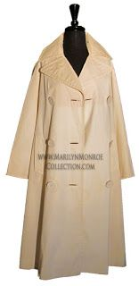 Marilyn wore this overcoat as she exited Polyclinic Hospital on July 11, 1961, following gallbladder surgery.