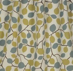 Green fabric (drapery / upholstery) Nissa Wasabi by Charles Parsons Interiors