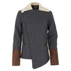 Finger in the Nose Grey Sheep Fleece Coat | Alex and Alexa - $218.50, orig. $437