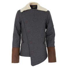 Finger in the Nose Grey Sheep Fleece Coat | Alex and Alexa - $218.50, orig. $437