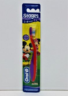 ORAL B MICKEY & MINNIE MOUSE TOOTHBRUSH STAGE 2 DENTAL 2-4 YEARS KIDS EXTRA SOFT 4 Years, Health And Beauty, Dental, Minnie Mouse, Stage, Amp, Kids, Young Children, Boys