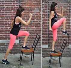 Exercitii pentru slabit picioare folosind scaunul Fitness Fashion, Fitness Inspiration, Sporty, Women, Style, Diet, The Body, Swag, Outfits