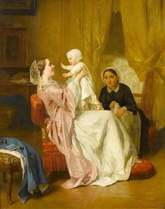 Jules Trayer (1824 - 1908) - Mother's darling, 1862