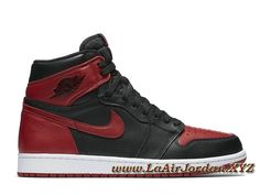 quality design bf666 e1c3e Air Jordan 1 Retro High OG Banned 555088_001 Chaussures Air JorDAN Noires  Pour Homme New Jordans