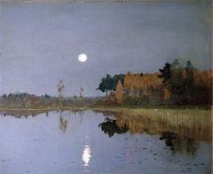 The Twilight Moon | Isaac Levitan | Painting Reproduction 8015 at TOPofART.com