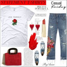 Slogan T-shirt , contest by anne-977 on Polyvore featuring Dolce&Gabbana, Diesel, Maybelline, polyvorecontest and slogantshirt