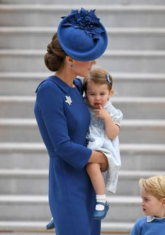 Catherine, Duchess of Cambridge, Prince George of Cambridge and Princess Charlotte of Cambridge arrive at the Victoria Airport on September 24, 2016 in Victoria, Canada.