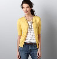 Ann Taylor Loft.  Love the buttery color, the elbow length sleeves on this cardie.