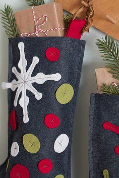 Adorable felt Christmas stockings. Handmade Christmas Stockings. http://www.hobbycraft.co.uk/christmas #christmas #stocking #handmadechristmas
