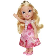 Your little girl will love playing with this large Princess Aurora doll from the Disney movie Sleeping Beauty. Disney Princess Toddler Dolls, Disney Princess Aurora, Disney Dolls, Ariel Doll, Jojo Bows, Embellished Gown, Barbie And Ken, Doll Hair, Kawaii Anime