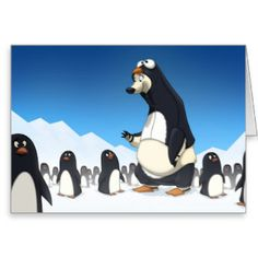 blank cards penguin - Google Search