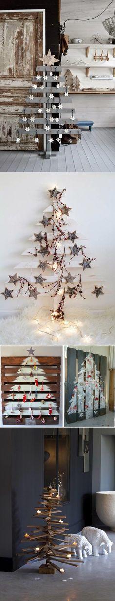 Árboles de navidad hechos con pallets / https://proyectos.habitissimo.es