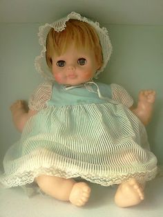 VINTAGE 1964 SLEEP EYES VOGUE BABY dear crying DOLL VOICE BOX