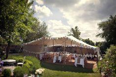 Be Eco-friendly & create a rustic outdoor garden #wedding reception under a DIY shelter x