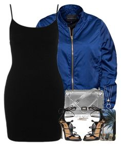 Island Blue.   12   10 16 by kahla-robyn on Polyvore featuring Rut&Circle, Dsquared2, Afew Jewels, Kate Spade, Heels, dress, bomberjacket and blackdress