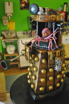 Bleeding Heart Bakery...love them! This is a Dalek cake (Daleks are the ultimate evil on Doctor Who)...yes, I'm a dork