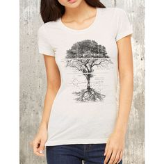 Tree Diagram Women's T-Shirt American Apparel Women's Tri-Blend... ($26) ❤ liked on Polyvore featuring tops, t-shirts, silver, women's clothing, t shirt, vintage t shirts, white t shirt, grunge t shirts and scoop neck tee