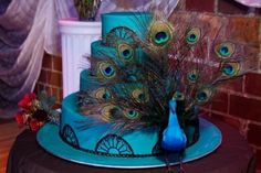 Peacock Wedding cakes are types of wedding cake that use peacock as the main design of the cake. Many wedding couples are interested in buying this wedding cake Peacock Wedding Decorations, Peacock Wedding Cake, Peacock Decor, Peacock Theme, Wedding Reception Decorations, Centerpiece Decorations, Wedding Bells, Wedding Cakes, Wedding Ideas