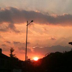 昨日はとてもきれいな夕焼けでした。 - @comfy- #webstagram #cloud #sky