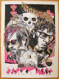 2011 The Black Keys - Winnipeg Variant Poster by Tyler Stout