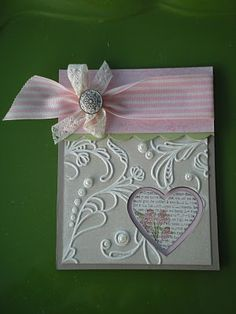 Beautiful Heart Card...elegant lines, heart punch.