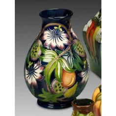 Moorcroft pottery, Passion fruit pattern, 2nd part of the Mediteranean Collection, 2011. Designed by Rachel Bishop