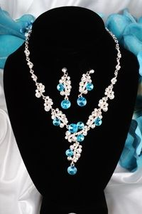 Sparkling Necklace and Earrings Jewelry Set #NK20TQ