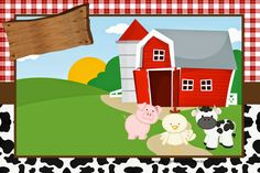 KIT FESTA PRONTA FAZENDINHA GRÁTIS PARA BAIXAR - Cantinho do blog Layouts e Templates para Blogger Farm Animal Party, Farm Animal Birthday, Farm Birthday, Farm Party Invitations, 2nd Birthday Party For Boys, Farm Themed Party, Party Tickets, Barn Parties, Farm Yard