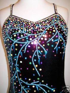 Customized ICE Skating Dress Baton Twirling Costume | eBay