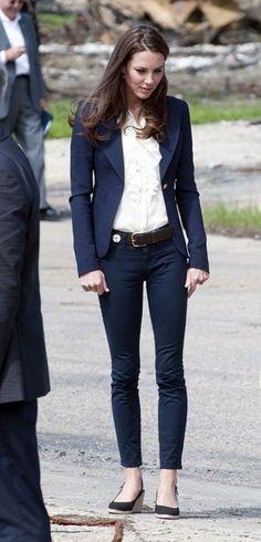Navy blazer & ruffles