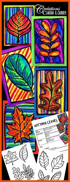 fall art projects for kids Autumn Art Activity and Lesson Plan for Kids: Autumn Leaves - ArtEd- Leaves - Fall Art Projects, School Art Projects, Thanksgiving Art Projects, Halloween Art Projects, Leaf Projects, Photo Projects, Middle School Art, Art School, Art 2nd Grade