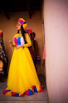 A Stunning Pedi Wedding Malawian wedding inspiration Pedi Traditional Attire, Sepedi Traditional Dresses, South African Traditional Dresses, Traditional Wedding Attire, African Wedding Attire, African Attire, African Dress, African Print Fashion, African Fashion Dresses