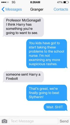 harry potter texts