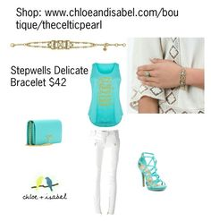 Today's Featured Product: Stepwells Delicate Bracelet  $42    Shop:  https://www.chloeandisabel.com/boutique/thecelticpearl/products/B385MEAG/stepwells-delicate-bracelet  #Summer #love #daily #Featured #product #bracelet #semiprecious #turquoise #white #motherofpearl #clear #crystal #antique #gold #stepwells #inspired #tribal #jewelry #fashion #accessories #style #shopping #shop #trendy #trending #trend #trends #boutique #chloeandisabel #thecelticpearl #lifetimeguarantee #online #buy