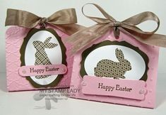 Stampin' Up! Two Tags Die by Christine M at My Stamp Lady: Hears To You Bunny Treat Favors For Easter