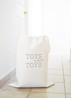 Large toy storage bag My Favorite TOYS. Nursery by DesignByRube