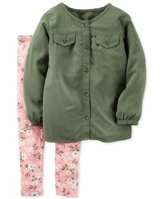 Carter's Baby Girls' 2-Pc. Tunic & Floral-Print Leggings Set