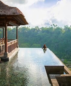 - save it for later - Kristina at Mandapa, a Ritz-Carlton Reserve in Ubud, Bali, Indonesia Ubud, Swimming Pool Designs, Swimming Pools, Infinity Pools, Hotel Pool, Dream Pools, Cool Pools, Adventure Is Out There, Dream Vacations